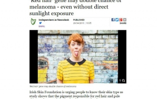 Article: The Irish Skin Foundation comments on Dr. Okamoto's research and urges people to know their skin type